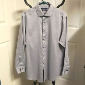 Geoffrey Beene Fitted Gray Shirt